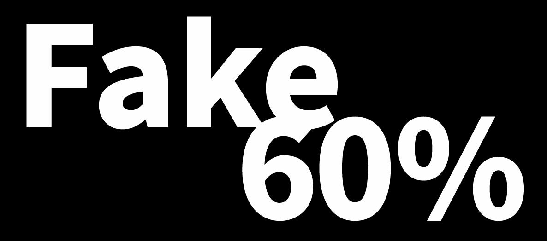 인플루언서의 60%는 Fake