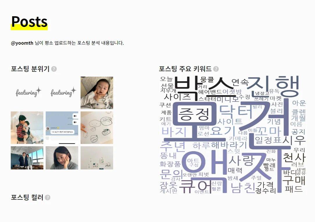 윰스 포스팅 분위기 키즈 주요키워드 모건 액자 등